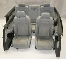 Audi Q7 4M Interior de Cuero 7 Asiento Cuero Gris Eléctrico Alcantara Original
