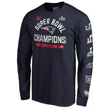 3efcec21c New England Patriots Super Bowl LIII 6-Time Champions Men s Long-Sleeve T-