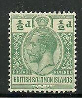 Album Treasures Solomon Islands Scott # 28  1/2p George V Mint Hinged