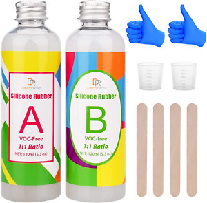 Silicone Mould Making Kit - Liquid Translucent Silicone Rubber for Silicone Mold