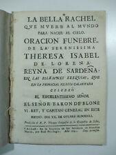 Langasco, Oracion funebre de la serenissima Theresa Isabel de Lorena, Cagliari