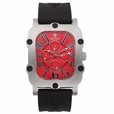 Croton Men's CN307529BSRD Industrial Stainless Steel Black Resin Watch