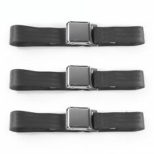Ford Bronco 1966 - 1977 Airplane 2pt Charcoal Lap Bucket Seat Belt Kit - 2 Belts