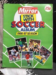Stick With Soccer Album 1986-87 Season - Daily Mirror Album COMPLETE