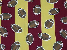 Premier Prints GAME DAY Maroon & Gold Stripe Football Home Decor Fabric 3.25 Yds