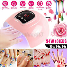 54W Professional UV Gel Nail Lamp LED Light Nail Dryer Polish Curing 3 Timers