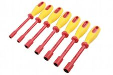 1000v AC - 1500v DC VDE Insulated Nut Driver Set - Metric 6mm - 14mm