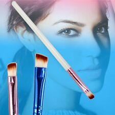 4Pcs Professional Oblique Angled Eyebrow Brush White Handle Eye Liner Brow Tools