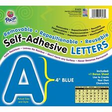 "Pacon Self-Adhesive Letters 4"" 78 Characters Blue 51623"