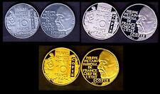 ★★★ COLLECTION DES 3 COPIES DE L'ESSAI 10 FRANCS PETAIN 1941 PAR GALLE ★★★