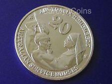 """2009 Australia Remembers """" Australian Service Nurse """" 20 Cent Coin UNC 20c"""