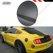 For 2015-17 Ford Mustang Carbon Fiber 3D Texture Add-on Gas Fuel Door Cover Cap