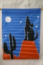 "28x40 Embroidered Sewn Coyote Wolf Appliqued Nylon Garden Flag 28""x40"""