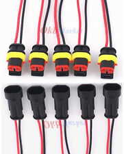 5Kit 2 Pin 2 Way Car Truck Waterproof Electrical Connector Plug Wire AWG Marine