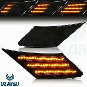 Black LED Side indicator Side marker Light For 13-19 Subaru BRZ/13-19 GT86