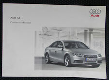 GENUINE AUDI A4 B8 SALOON OWNERS MANUAL HANDBOOK – 11/2008 EDITION