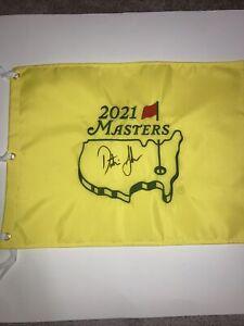 Dustin Johnson Signed Autographed 2021 Masters Flag