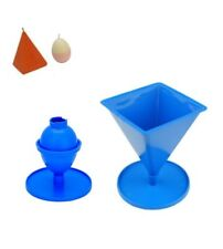 Set x 2, Egg/Oval Shaped & 4 Sided Pyramid Candle Moulds Molds. S7692