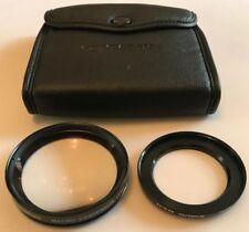 Olympus Camera Macro Conversion Lens f=40cm 55mm & 43-55 Step Up Ring, Ex. Cond.