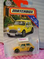 2019 Matchbox #96 '64 AUSTIN MINI COOPER☆yellow taxi cab☆SERVICE 19/20☆ CASE N