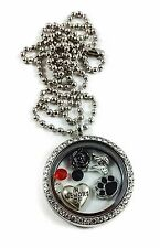 In Memory of My Dog Remembrance Puppy Living Floating Memory Locket Necklace
