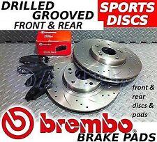 Bmw E36 M3 incluye Evo Z3m Delantero Y Trasero drilled/grooved Discos De Freno & Brembo almohadillas