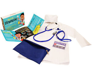 My First Stethoscope Doctor's Kit - Real Stethoscope for Kids - With Lab Coat