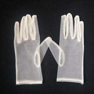 Women Sexy Lace Short Gloves Thin Fingerless Bowknot Wedding Bride Driving Glove