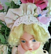 Gorgeous Vintage Hat Bonnet for a French or German Antique Porcelain Doll - Dh1