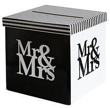 Briefbox / Kuvertbox Mr & Mrs für Karten aus Karton - Hochzeitsdeko 20x20x20cm