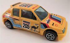 Burago Yellow 1/43 Peugeot # 205 Turbo 16 Safari Rally Collectible Diecast Car