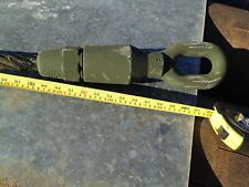 """New Wire Rope Assembly Single Leg 1 1/8"""" Sling 10' Military Surplus Tank Cable"""