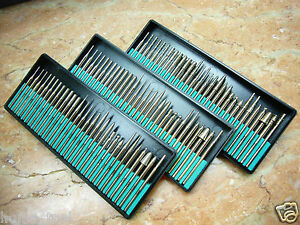 3 Set THK Diamond coated rotary burrs points drill bit Type 1 GRIT 40, 120 & 300