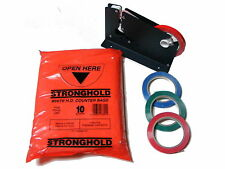 "BAG NECK SEALER MACHINE + 3 ROLLS TAPE + 1000 PLASTIC 8 X 10 "" FOOD FREEZER BAGS"