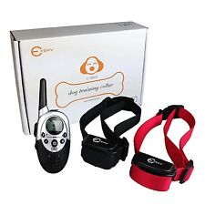 2 Dog Electric Shock Training Collar w/Remote Waterproof Rechargeable 1000 Yard