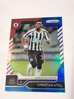 2019-20 Prizm EPL soccer Christian Atsu Newcastle red white blue Parallel