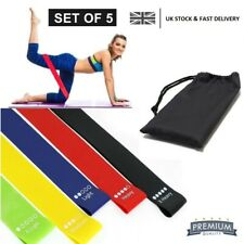PD SPORT Resistance Bands (Set of 5) Skin Friendly Fitness, Yoga Exercise home