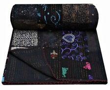 Indien handmade silk khambhadia patchwork kantha quilt vintage bedding bedspread