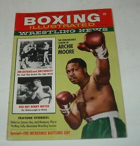 1960 BOXING ILLUSTRATED WRESTLING NEWS MAGAZINE ARCHIE MOORE DENNY MOYER