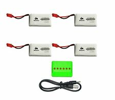 Noiposi 4 pcs 3.7v 850mah 25c Upgrade Lipo Battery JST Plug with X6 Charger for