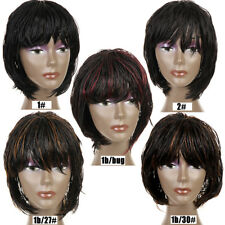 Short Twist Crochet Box Braided Bob Wigs African American Synthetic Hair 12''