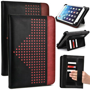 7.9 inch Patent Leather Protective Tablet Folding Case Cover & Stand MUEP-3