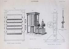 Calandria, rodillos de alta presión, ingeniería, antiguos 1890s Negro y Blanco de la impresión