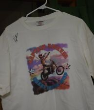 EVEL KNIEVEL- ROBBIE KNIEVEL GRAND CANYON JUMP T-SHIRT (L) SIGNED