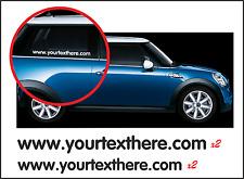 SERIE di 4-indirizzo sito web ADESIVI PUBBLICITARI ideale per auto/furgone finestra o di carrozzeria
