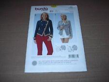 Burda Pattern 6661 Misses' Maritime / Military Style Jacket ~ Size 8 ~ 18  Uncut