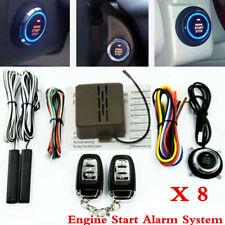 8X Car Alarm Start Security System Key Passive Keyless Entry Push Button &Remote
