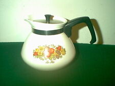 NICE VINTAGE CORNING WARE SPICE OF LIFE 6 CUP TEA POT & STAINLESS STEEL LID P104