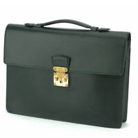 Louis Vuitton business bag Taiga Taiga Leather Auth used T16786