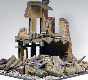 """1/32 WW2 Diorama Display: Two-story French City Cafe' building 12x12x11""""  NEW!"""